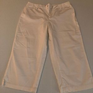 Coldwater Creek White Capri